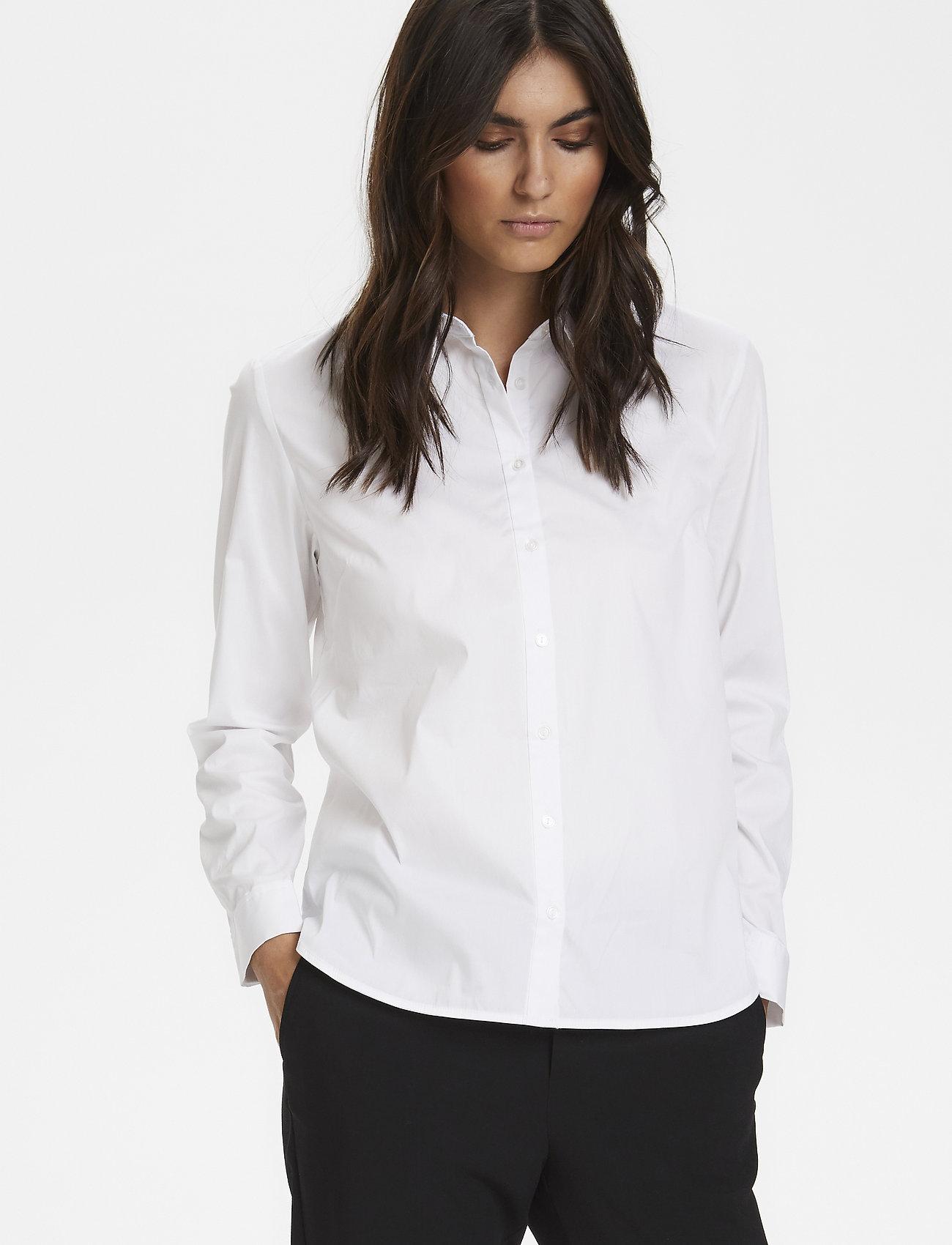 Part Two - BiminiPW SH - long-sleeved shirts - pale white