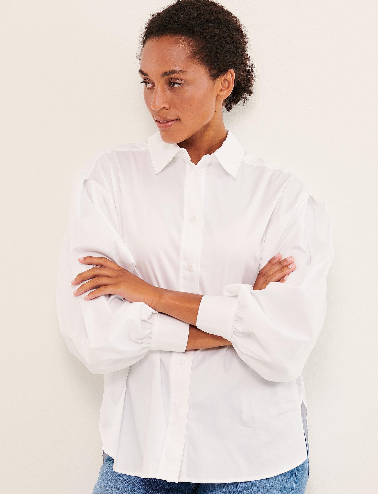 Part Two - GyaPW SH - denimskjorter - bright white - 0