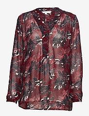 Part Two - Hella BL - long sleeved blouses - artwork dark red - 0