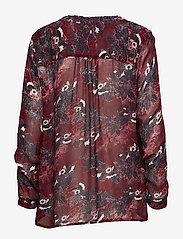 Part Two - Hella BL - long sleeved blouses - artwork dark red - 1