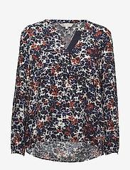 Part Two - Ilena BL - long sleeved blouses - artwork medium blue - 0