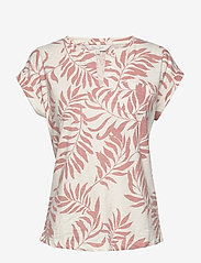 Part Two - KeditaPW TS - basic t-shirts - palm print, terra cotta - 0