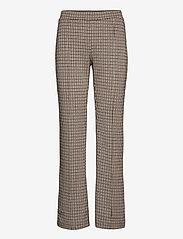 Part Two - PontasPW PA - pantalons droits - mini check, brown - 0