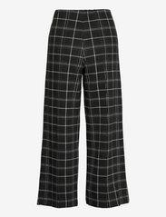 Part Two - IlisanPW PA - bukser med brede ben - black check - 2
