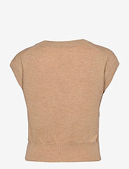 Part Two - VavaraPW PU - knitted vests - dark camel melange - 1