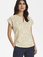 Part Two - KeditaPW TS - basic t-shirts - dot print, cream tan - 0