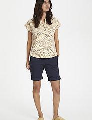Part Two - KeditaPW TS - basic t-shirts - dot print, cream tan - 3