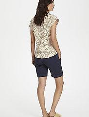 Part Two - KeditaPW TS - basic t-shirts - dot print, cream tan - 4