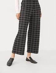 Part Two - IlisanPW PA - bukser med brede ben - black check - 0