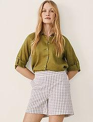 Part Two - IwonaPW SHO - casual shorts - gray blue check - 0