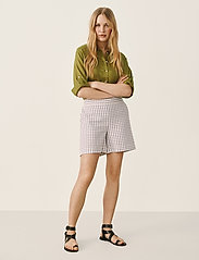 Part Two - IwonaPW SHO - casual shorts - gray blue check - 3