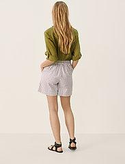 Part Two - IwonaPW SHO - casual shorts - gray blue check - 4