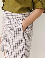 Part Two - IwonaPW SHO - casual shorts - gray blue check - 6