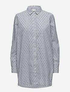 Janviere SH - langærmede skjorter - artwork medium blue