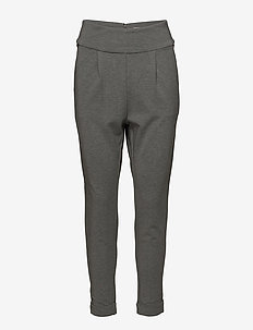 Kighta PA - pantalons casual - medium grey melange
