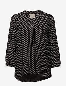 Chichi BL - blouses lange mouwen - artwork medium black