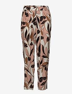 Loga PA - pantalons droits - artwork medium pink