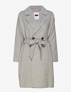 MistyPW OTW - manteaux de laine - light grey melange