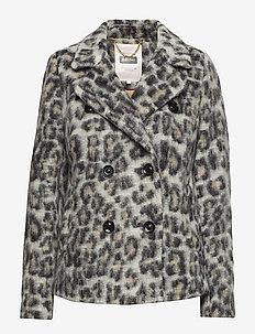 Manda OTW - wool jackets - artwork medium grey