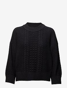Moisy PU - swetry - dark navy