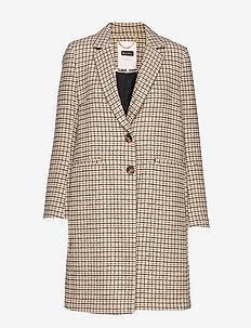 SallyPT OTW - manteaux de laine - ma19 small check camel