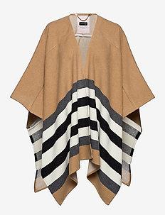 SharonPT OTW - poncza & peleryny - ma2019 camel stripe