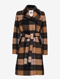 SelmaPT OTW - manteaux de laine - ma19 big check brown
