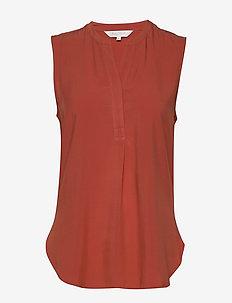 SarahPW TO - blouses zonder mouwen - chili
