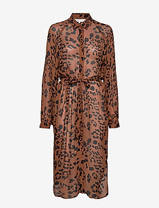 Thandie DR - LEOPARD PRINT, BROWN.
