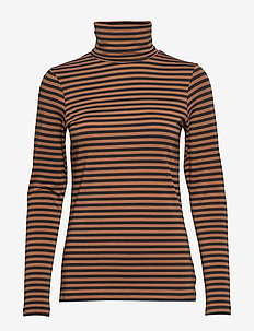 Taeko TS - STRIPED JERSEY, BROWN.