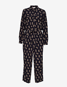Texas JU - haalarit - meadow print dark blue