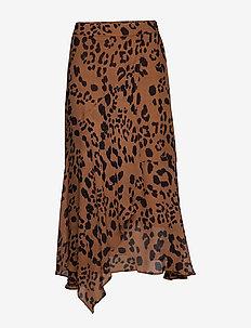 Rafaela SK - midi - leopard print, brown.