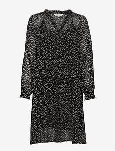 Abira DR - korta klänningar - dot print, dark navy.