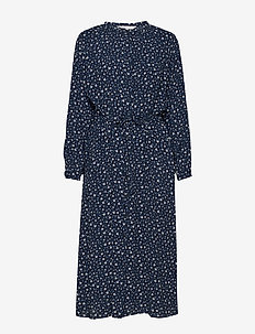 Adalee DR - paitamekot - mini flower print, dark navy.