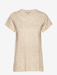 Rata Gold - t-shirts - gold dot print, whitecap