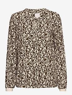TonniePW BL - blouses à manches longues - fragile flowerprint, beech