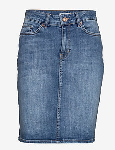 Huldas SK - jupes en jeans - medium denim