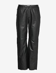 Marvella PA - pantalons en cuir - black