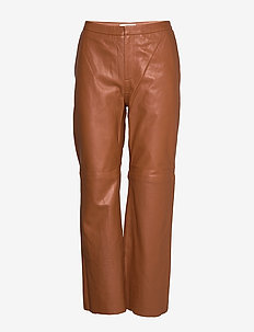 Marvella PA - spodnie skórzane - leather brown