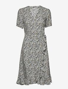 ClairePW DR - slå-om-kjoler - mini leaf print, blue
