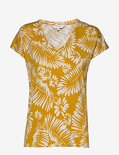 CalinaPW TS - PALM PRINT, GOLDEN SPICE