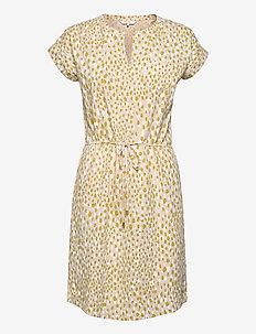 MabelPW DR - short dresses - dot print, cream tan