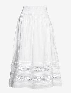 BeninaPW SK - midi skirts - bright white