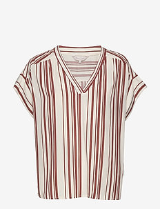 DrinePW BL - blouses à manches courtes - bold stripe, brown