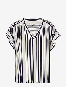 DrinePW BL - blouses à manches courtes - bold stripe, navy