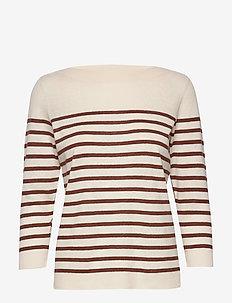 DuaPW PU - neulepuserot - stripe, brown