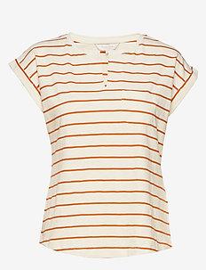 KeditaPW TS - t-shirts - stripe, orange sunset