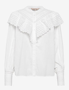 BreePW SH - long sleeved blouses - bright white