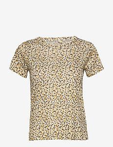 RatanPW TS - t-shirts - mini leaf print, golden spice