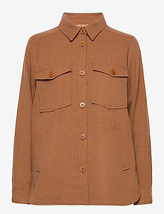 ElfaPW JA - overshirts - hazel brown